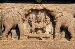 Figuras cinzeladas, templo de Ramappa, Warangal, estado de Telangana da Índia fotos de stock royalty free