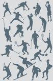 Figuras colección de los deportes del vector Imagen de archivo
