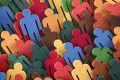 Figuras coloridas del grupo de personas foto de archivo libre de regalías