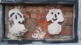 figuras creativas en la pared Foto de archivo