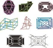 Figuras 3D e labirintos decorativos geométricos Imagem de Stock Royalty Free