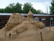 Figuras da areia Fotos de Stock Royalty Free