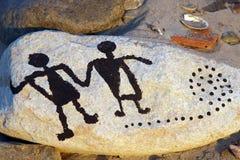 Figuras da arte da rocha Fotos de Stock