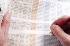 Figuras da finança Fotos de Stock