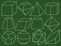 Figuras da geometria ilustração royalty free
