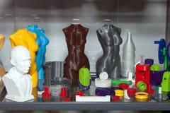 figuras da impressão 3D Imagem de Stock Royalty Free