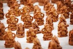 Figuras da lembrança dos deuses no mercado indiano Fotografia de Stock