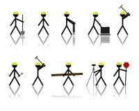 Figuras da vara da construção Fotos de Stock Royalty Free