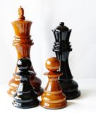 Figuras da xadrez Fotografia de Stock