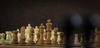Figuras da xadrez ajustadas para o desafio e o fósforo ilustração stock