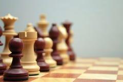 Figuras da xadrez de Wodden Imagem de Stock Royalty Free