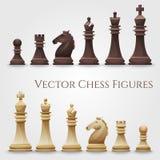Figuras da xadrez do vetor ilustração do vetor