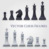 Figuras da xadrez do vetor ilustração royalty free