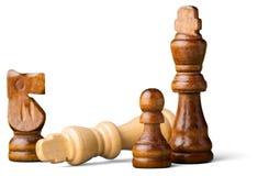 Figuras da xadrez isoladas no fundo branco fotos de stock