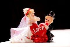 Figuras de cerámica de recienes casados Imagen de archivo
