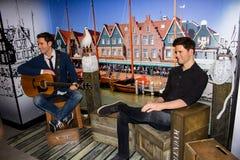 Figuras de cera de Nick & de Simon, Amsterdão da senhora Tussaud imagens de stock royalty free