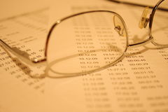 Figuras de contabilidade Foto de Stock Royalty Free