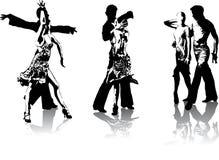 Figuras de dançarinos latino-americanos Foto de Stock Royalty Free