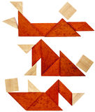 Figuras de descanso do Tangram Imagens de Stock