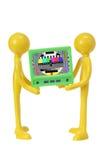 Figuras de goma con la televisión Imagen de archivo libre de regalías