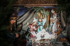 Figuras de Jesus e de Joseph Fotos de Stock Royalty Free