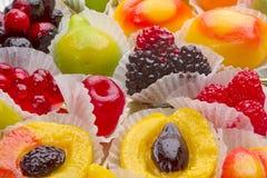 Figuras de la gelatina de la fruta Imagen de archivo