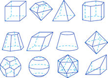 Figuras de la geometría Imagen de archivo
