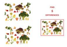 Figuras de la historieta de las verduras y de las frutas, ejemplo de Educa Imágenes de archivo libres de regalías