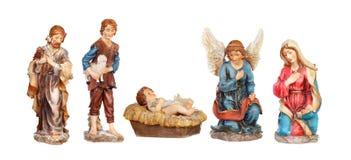 Figuras de la imagen para el portal de la natividad Fotografía de archivo libre de regalías