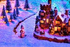Figuras de la Navidad, decoración de la Navidad, atmósfera de la Navidad imagenes de archivo