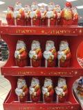 Figuras de la Navidad del chocolate de Merci fotos de archivo