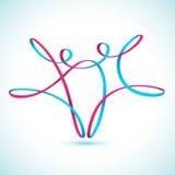 Figuras de la secuencia del baile  stock de ilustración