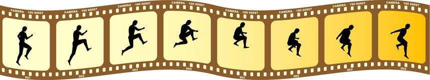 Figuras de la silueta Imagen de archivo libre de regalías