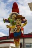 Figuras de Lego em Disney do centro Fotografia de Stock