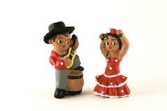 Figuras de los bailarines Imagen de archivo libre de regalías