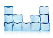 Figuras de los cubos de hielo Fotografía de archivo