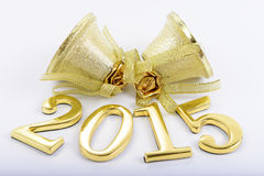 Figuras de los nuevo 2015 años en un fondo blanco Fotos de archivo libres de regalías