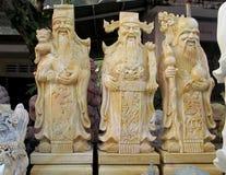 Figuras de mármol de risa de Oldmen Imagenes de archivo