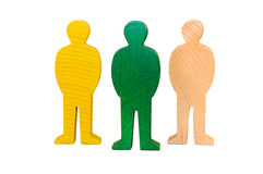 Figuras de madeira Fotos de Stock Royalty Free