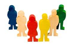 Figuras de madeira Foto de Stock Royalty Free