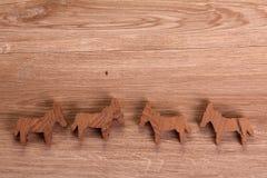 Figuras de madeira Imagem de Stock Royalty Free