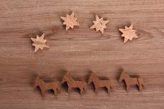 Figuras de madeira Imagens de Stock Royalty Free
