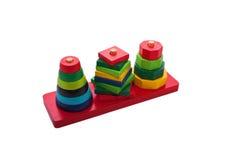 Figuras de madeira da cor das crianças Fotos de Stock Royalty Free