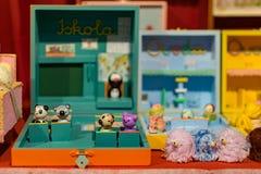 Figuras de madeira do brinquedo Imagens de Stock Royalty Free