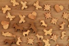 Figuras de madera Imagen de archivo libre de regalías
