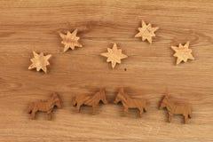 Figuras de madera Fotografía de archivo libre de regalías