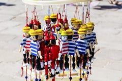 Figuras de madera de Pinocchio Imagen de archivo