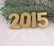 figuras de oro de 2015 años Fotos de archivo