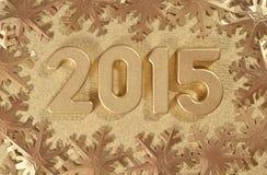 figuras de oro de 2015 años Imagenes de archivo