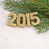 figuras de oro de 2015 años Imagen de archivo